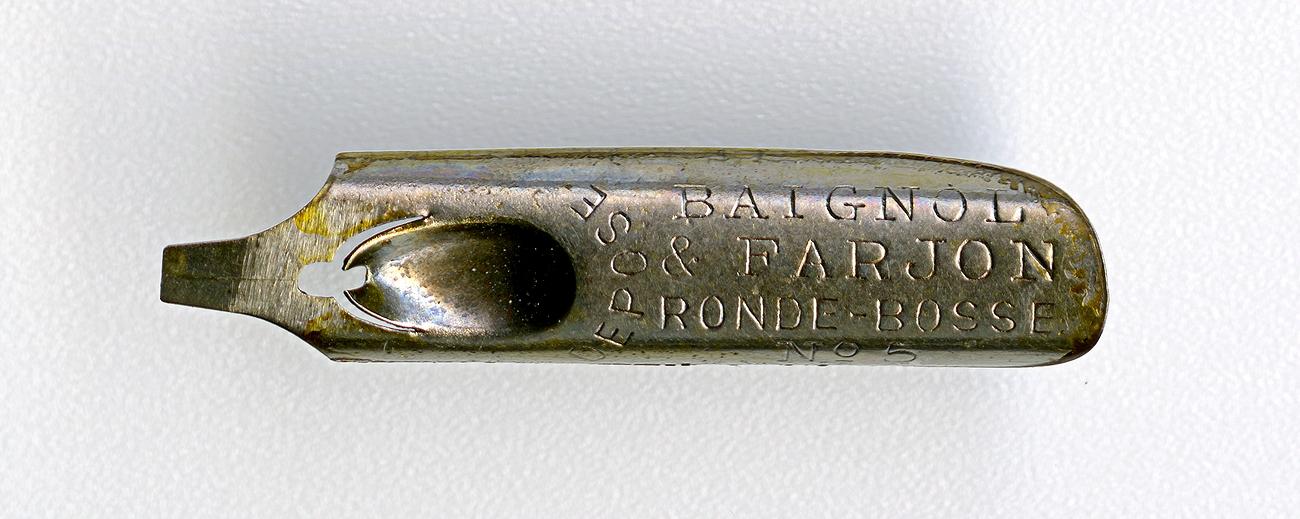 BAIGNOL & FARJON RONDE-BOSSE DEPOSE №5