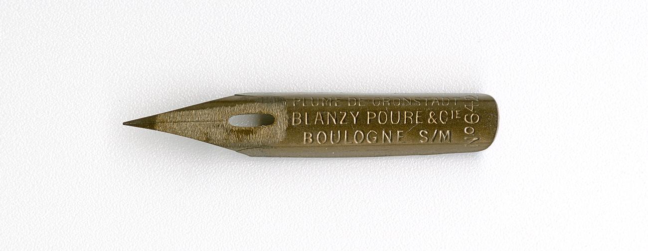 BLANZY POURE&Cie PLUME DE KRONSTADT BOULOGNE S M №642