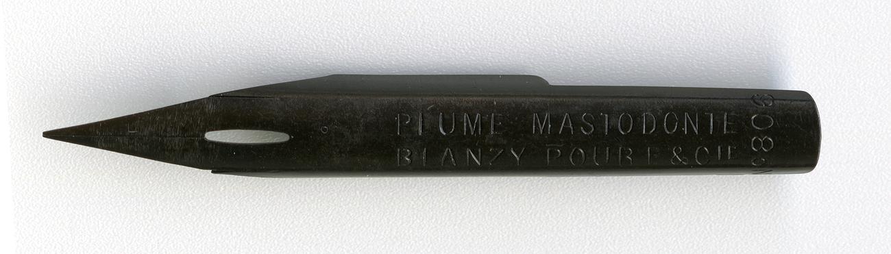 BLANZY POURE&Cie PLUME MASTODONT №806 NOIRE