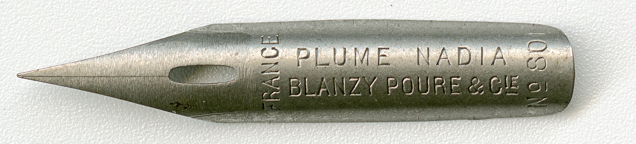 Blanzy Poure&Cie FRANCE Plume Nadia №801