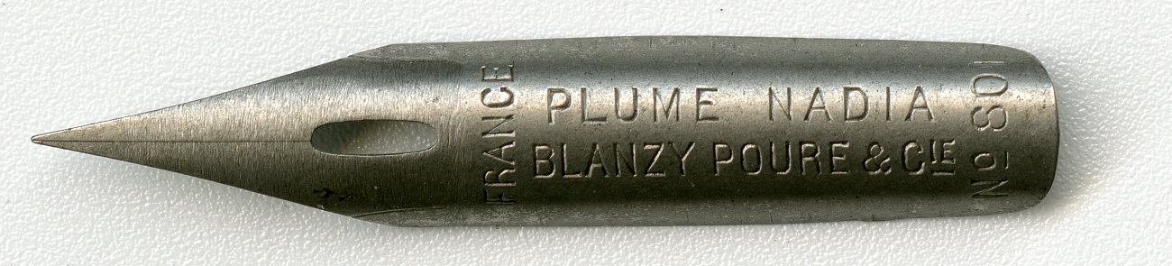 FRANCE Plume Nadia Blanzy-Poure&Cie №801