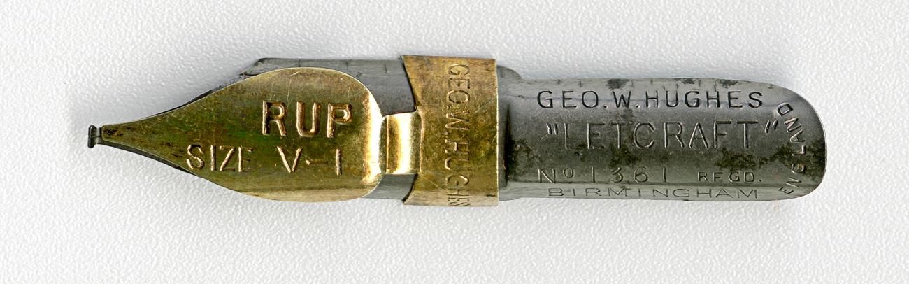 GEO.W.HUGHESL LETCRAFT №1361 Regd RUP SIZE V.1 BIRMINGHAM ENGLAND