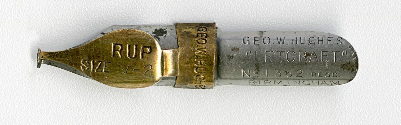 GEO.W.HUGHESL LETCRAFT №1362 Regd RUP SIZE V.2 BIRMINGHAM ENGLAND