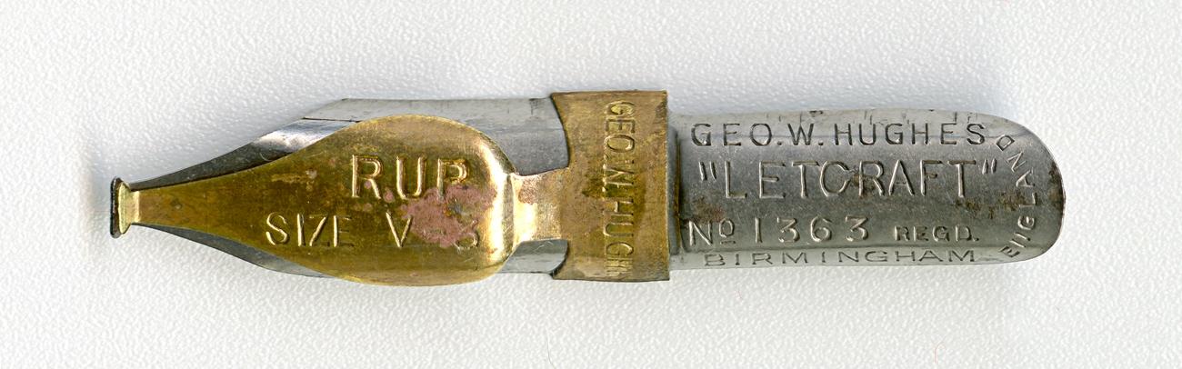 GEO.W.HUGHESL LETCRAFT №1363 Regd RUP SIZE V.3 BIRMINGHAM ENGLAND
