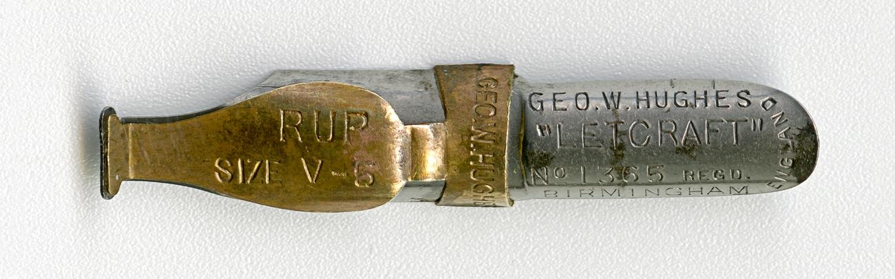 GEO.W.HUGHESL LETCRAFT №1365 Regd RUP SIZE V.5 BIRMINGHAM ENGLAND