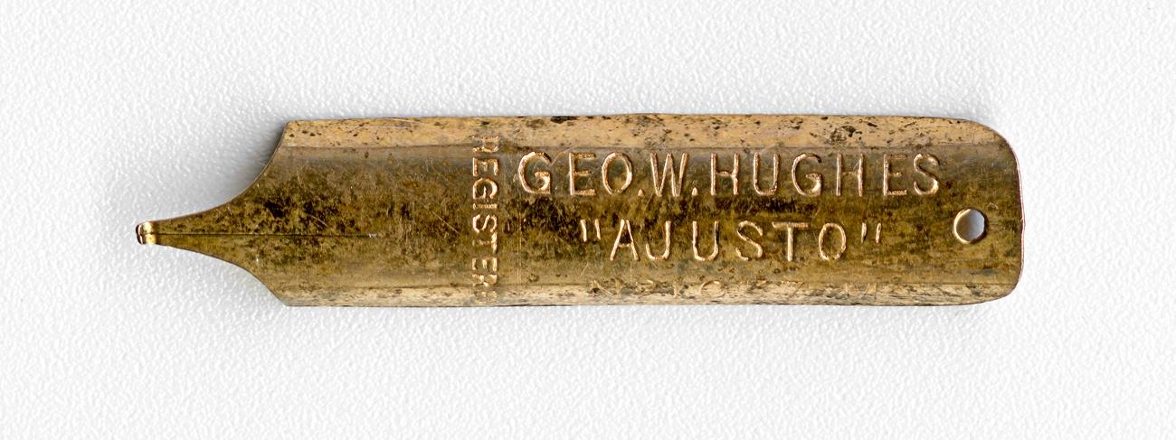 GEO.W.HUGHES Registred AJUSTO №1037 M