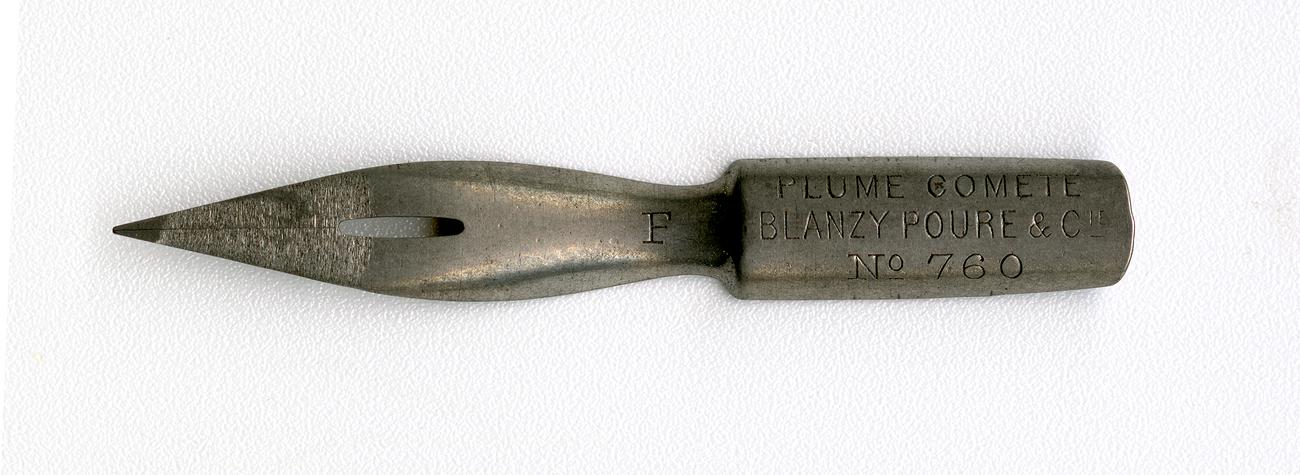 PLUME COMETE BLANZY POURE & Cie №760 F