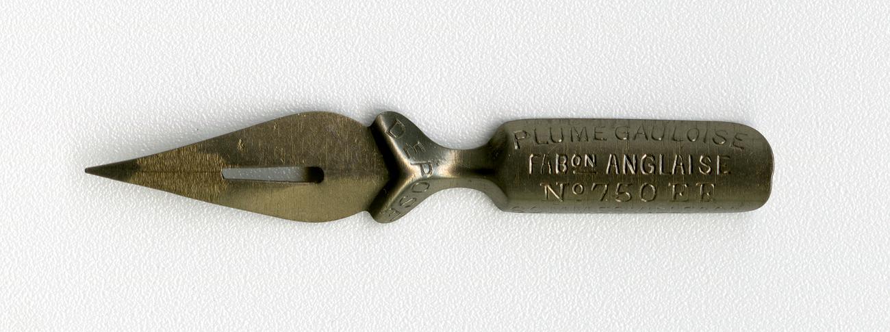 PLUME GAULOISE FABon ANGLAISE DEPOSE №750 EF SOMMERVILLE&Co