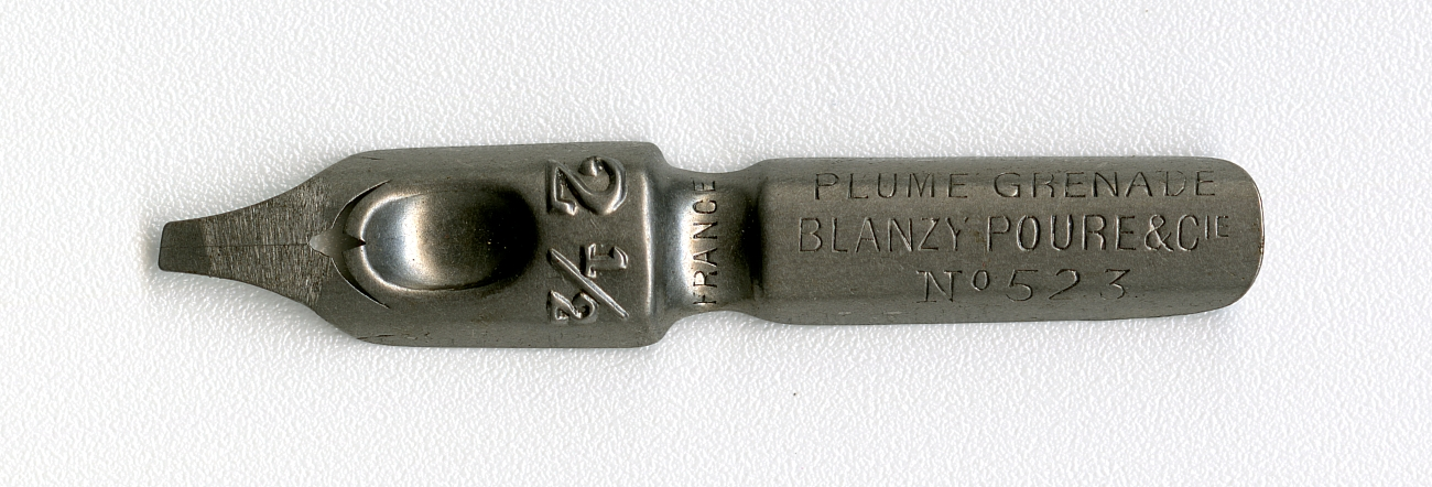 PLUME GRENADE BLANZY POURE & Cie FRANCE 2 1.2 №523