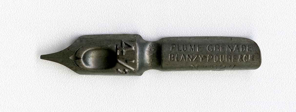 PLUME GRENADE BLANZY POURE & Cie FRANCE 4 1.2 №527
