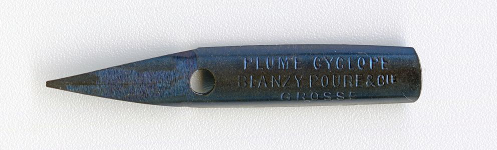 BLANZY POURE&Cie PLUME CYCLOPE GROSSE BLEUE 68 Cat