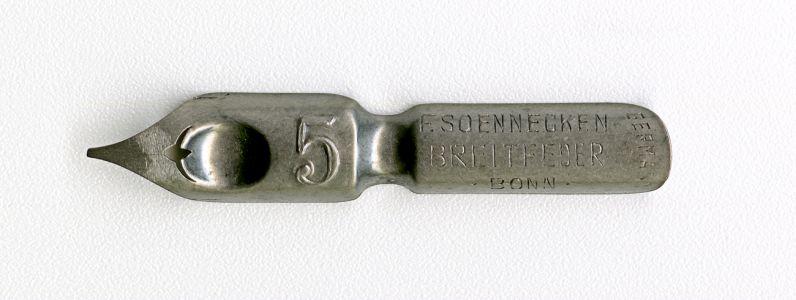 F. SOENNECKEN BREITFEDER BONN 5