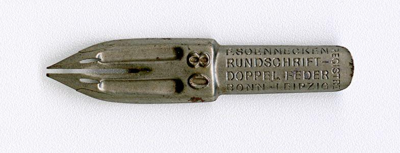 F. SOENNECKEN RUNDSHRIFT-DOPPPEL FEDER BONN-LEIPZIG REGISTRI 80