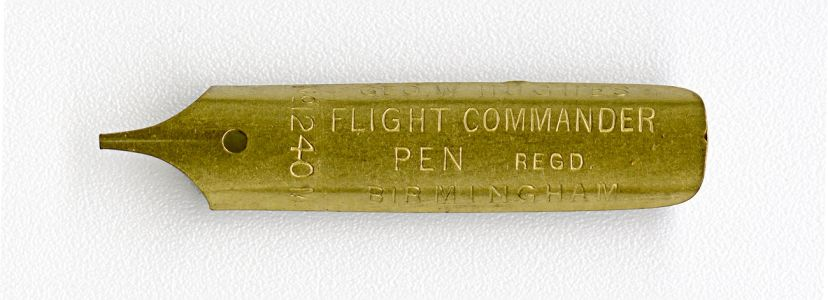 GEO.W.HUGHES FLIGHT COMMANDER PEN REG D №1240M BIRMINGHAM №500