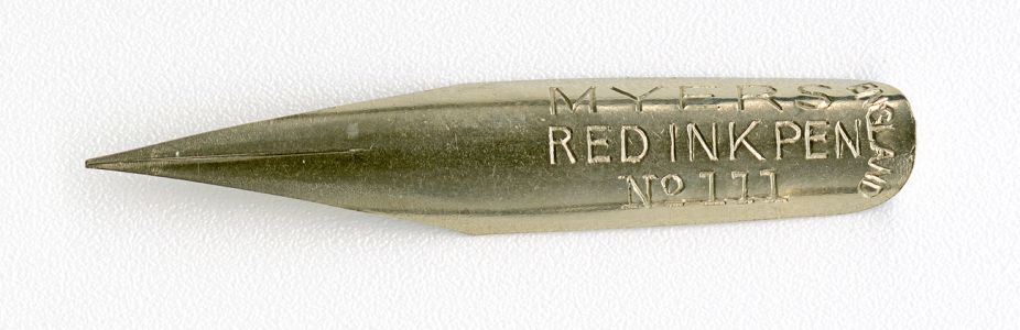 MYERS RED INK PEN ENGLAND №111